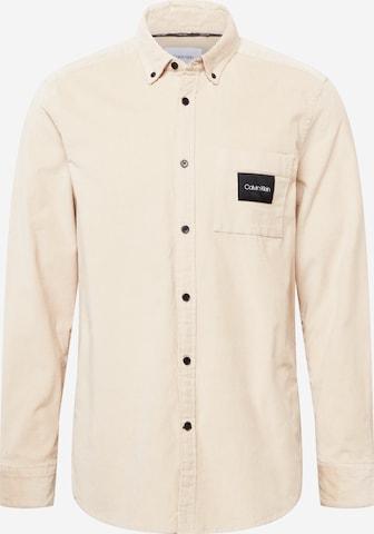 Calvin Klein Hemd in Beige