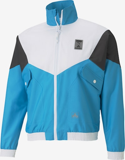 PUMA Jacke in neonblau / schwarz / naturweiß, Produktansicht