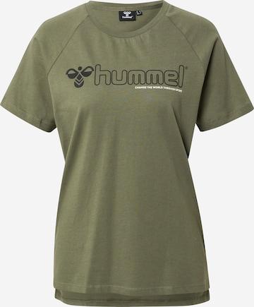 Hummel Performance Shirt 'Zenia' in Green