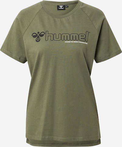 Hummel T-Shirt 'Zenia' in oliv / schwarz / weiß, Produktansicht