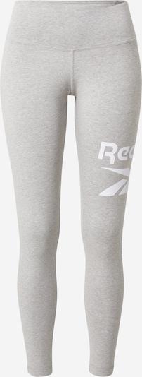 Reebok Sport Športne hlače | pegasto siva / bela barva, Prikaz izdelka