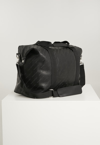 Urban Classics Weekendtas ' Imitation Leather Weekender ' in de kleur Zwart, Productweergave