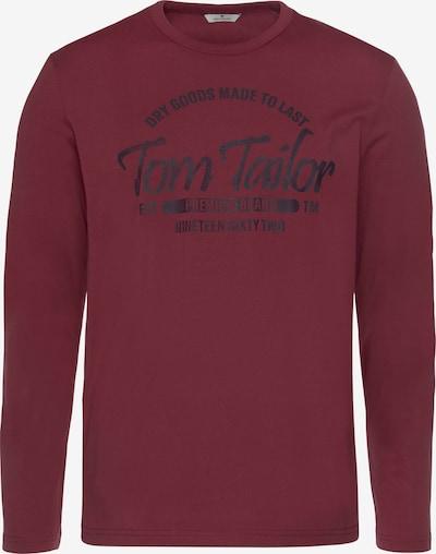 TOM TAILOR Shirt in pastellrot / schwarz, Produktansicht