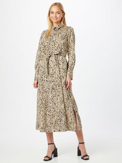 SECOND FEMALE Kleid 'Sevilla' in beige / hellbraun / schwarz, Modelansicht