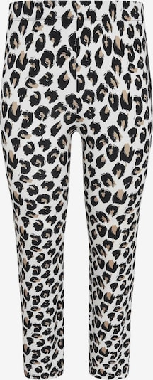 Yoek Leggings ' Feline ' en marron / noir / blanc, Vue avec produit