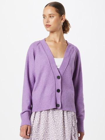 Noisy may Knit Cardigan 'Ian' in Purple