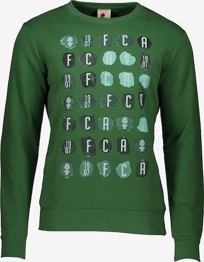 FC Augsburg Sweatshirt in grasgrün / dunkelgrün / schwarz, Produktansicht