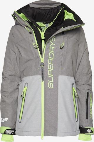 Superdry Snow Skijacke 'Slalom Slice' in Grau