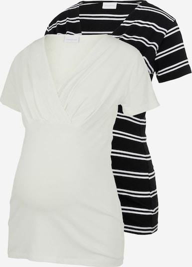 MAMALICIOUS T-shirt en noir / blanc, Vue avec produit