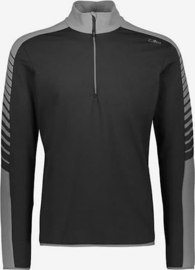 CMP Pullover ' Stretch Longsleeve ' in grau / schwarz, Produktansicht