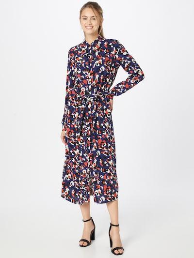 VILA Blousejurk 'Lana' in de kleur Blauw / Rood / Zwart / Wit, Modelweergave