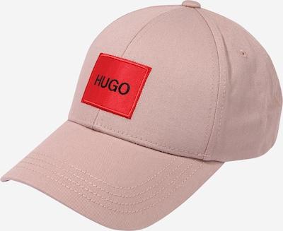 HUGO Шапка с козирка в пастелно розово / червено, Преглед на продукта