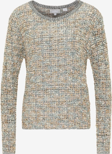 Usha Pullover in grau / puder / weiß, Produktansicht