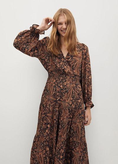 MANGO Kleid oslo in braun, Modelansicht