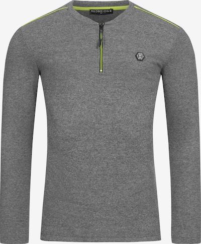 Redbridge Pullover Oceanside Slim Fit mit Reißverschluss in grau, Produktansicht