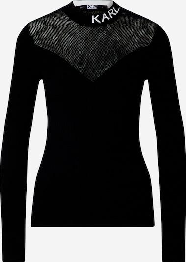 Karl Lagerfeld Sweter 'Pointelle' w kolorze czarny / białym, Podgląd produktu