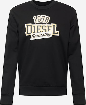 DIESEL Sweatshirt 'S-GIRK-K22' in Schwarz