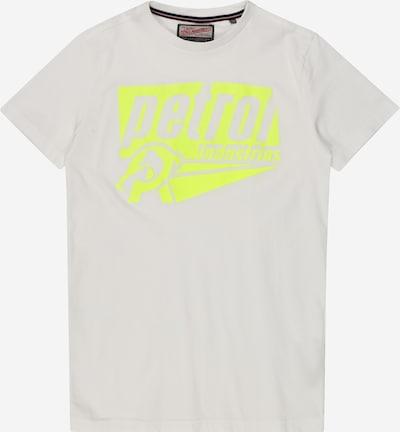 Petrol Industries T-Shirt in gelb / weiß, Produktansicht