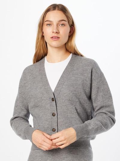 AMERICAN VINTAGE Strickjacke 'Tadbow' in grau, Modelansicht