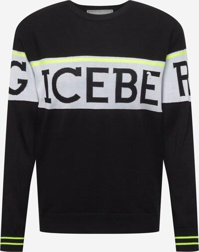 ICEBERG Džemperis, krāsa - neona dzeltens / gaiši pelēks / melns, Preces skats