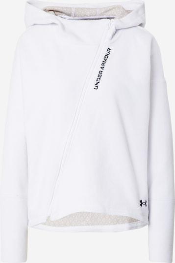 UNDER ARMOUR Functionele fleece jas in de kleur Zwart / Wit, Productweergave