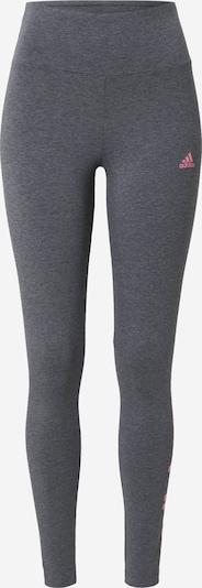 ADIDAS PERFORMANCE Spodnie sportowe w kolorze nakrapiany szary / różowym, Podgląd produktu