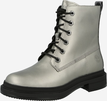 TIMBERLAND Lace-Up Ankle Boots 'Lisbon Lane' in Silver