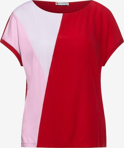 Tricou STREET ONE pe roz deschis / roșu / alb, Vizualizare produs