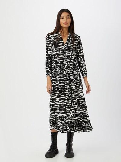 Calvin Klein Kleid in schwarz / weiß: Frontalansicht