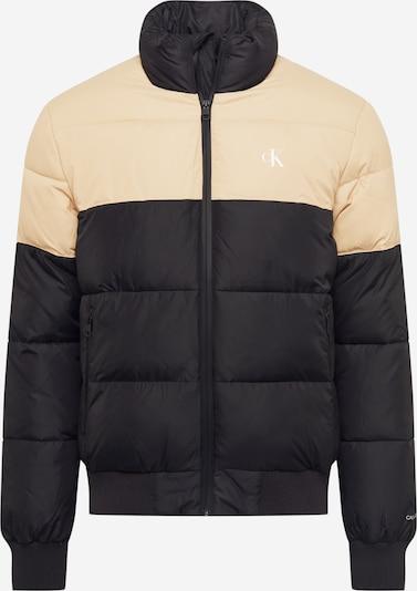 Calvin Klein Jeans Tussenjas in de kleur Beige / Zwart / Wit, Productweergave