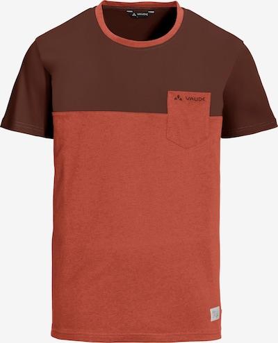 VAUDE T-Shirt 'Nevis III' in schoko / rot, Produktansicht
