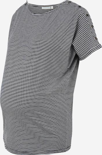 Tricou JoJo Maman Bébé pe negru / alb, Vizualizare produs