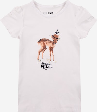 BLUE SEVEN T-Shirt in mischfarben / weiß, Produktansicht