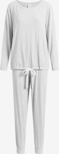 CCDK Copenhagen Pyjama 'Marie' in grau / weiß, Produktansicht