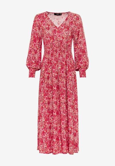 HALLHUBER Kleid in kirschrot / weiß, Modelansicht