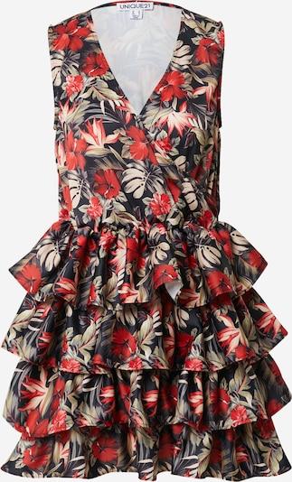 Unique21 Kleid 'Tiered' in dunkelblau / mischfarben, Produktansicht