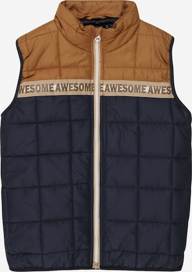 NAME IT Bodywarmer 'Mylane' in de kleur Navy / Lichtbruin, Productweergave