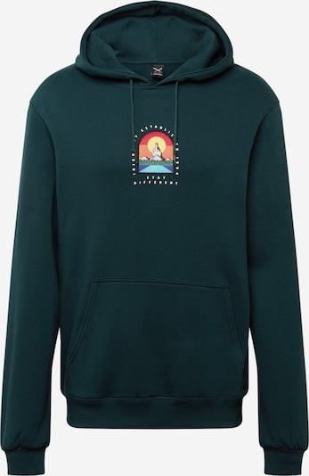 Iriedaily Sweat-shirt 'Stonefinger' en vert foncé / mélange de couleurs, Vue avec produit