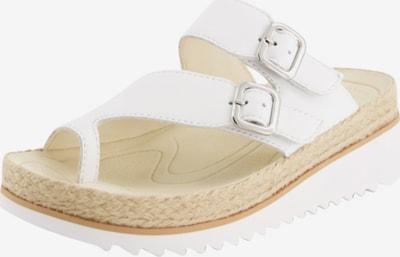 GABOR Sandalen in creme / silber / weiß, Produktansicht