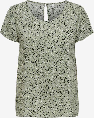ONLY Bluse 'FIRST' i pastelgrøn / sort / hvid, Produktvisning