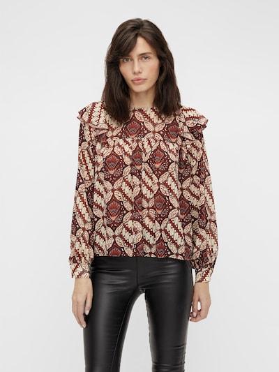 Bluză 'Griva' OBJECT pe roșu / alb, Vizualizare model