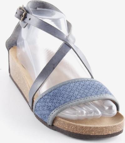UNBEKANNT Riemchen-Sandalen in 37 in camel / rauchgrau, Produktansicht