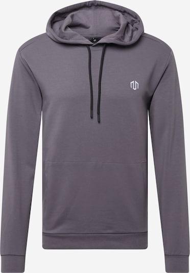 MOROTAI Sweat de sport 'Active Dry Hoodie' en gris / blanc, Vue avec produit