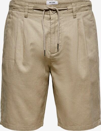 Pantaloni con pieghe 'Leo' Only & Sons di colore beige, Visualizzazione prodotti