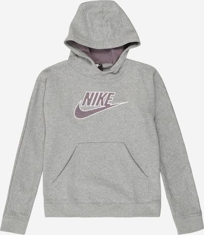 Nike Sportswear Mikina - šedý melír / fialová / bílá, Produkt