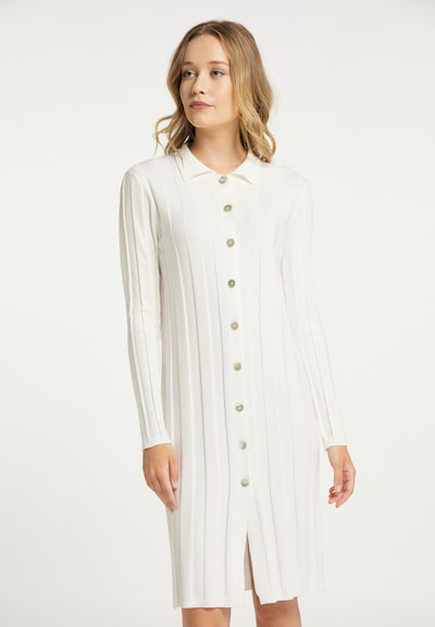 DreiMaster Klassik Robes en maille en blanc, Vue avec modèle