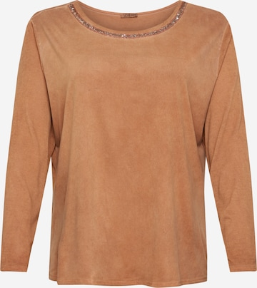 Z-One Shirt 'Juana' in Braun