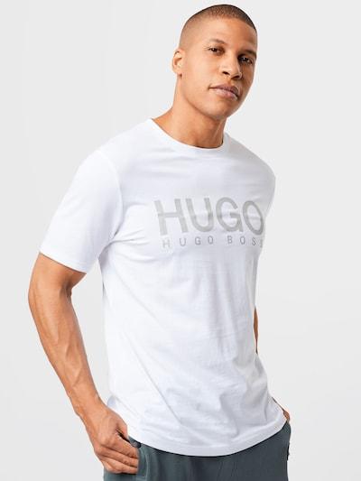 HUGO T-Shirt 'Dolive' en gris / blanc: Vue de face