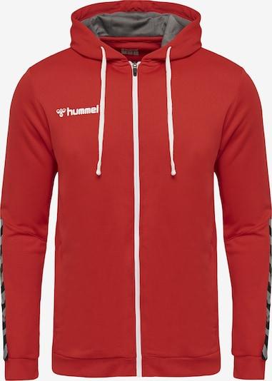 Hummel Sportsweatvest in de kleur Zilvergrijs / Vuurrood / Zwart / Wit, Productweergave