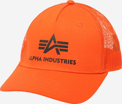 ALPHA INDUSTRIES Cap en orange / schwarz, Vue avec produit